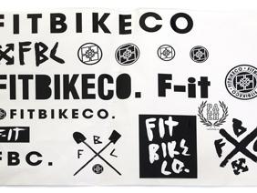 FitBikeCo  15 наклеек на листе
