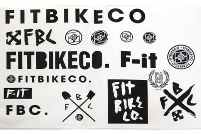 FitBikeCo  15 наклеек на листе, цвет Чёрный