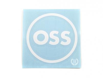 OSS наклейка плоттерная круглая, цвет Белый