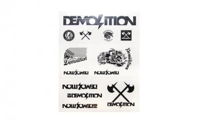 Demolition Лист наклеек, цвет Чёрный