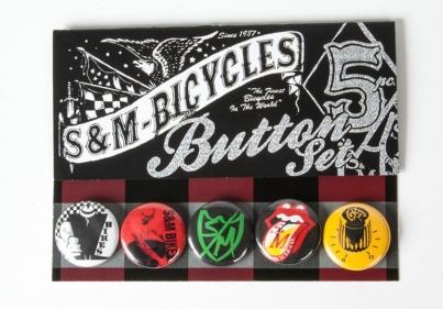 S & M Значки - 5шт - 1 дюйм, цвет