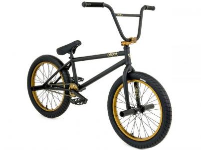 BMX Велосипед FlyBikes Omega (2018) Black/Gold RHD, цвет Черно-Жёлтый