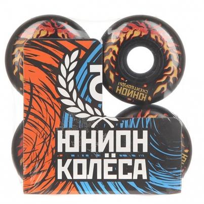 Скейтборд ЮНИОН колёса FIRE, цвет Чёрный