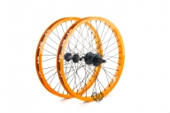 Колесо Revenge комплект (переднее и заднее колесо), цвет: Оранжевый, Кол-во спиц: 36, Драйвер: 9 зубов, Позиция: 0, Крепление: ось 10 / ось 14мм, Сторона: RHD