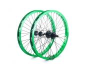 Колесо Revenge комплект (переднее и заднее колесо), цвет: Зелёный, Кол-во спиц: 36, Драйвер: 9 зубов, Позиция: 0, Крепление: ось 10 / ось 14мм, Сторона: RHD
