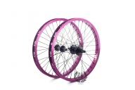 Колесо Revenge комплект (переднее и заднее колесо), цвет: Фиолетовый, Кол-во спиц: 36, Драйвер: 9 зубов, Позиция: 0, Крепление: ось 10 / ось 14мм, Сторона: RHD