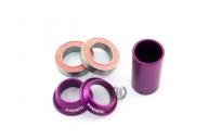 Каретка FlyBikes Spanish 22mm, цвет: Фиолетовый, Стандарт: SPN, под ось: 22мм