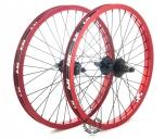 Колесо Revenge комплект (переднее и заднее колесо), цвет: Красный, Кол-во спиц: 36, Драйвер: 9 зубов, Позиция: 0, Крепление: ось 10 / ось 14мм, Сторона: RHD