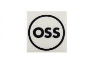 OSS наклейка плоттерная круглая, цвет: Чёрный,
