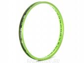 Обод FlyBikes Classic Front, цвет: Зелёный, Кол-во спиц: 36, Шов: Сварной