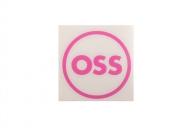 OSS наклейка плоттерная круглая, цвет: Розовый,