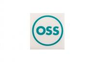 OSS наклейка плоттерная круглая, цвет: Бирюзовый,