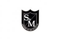 S & M Shield Logo Small, цвет: Чёрно-Белый,