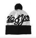 Шапка Ziq & Yoni Logo Beanie, цвет: Чёрно-Белый,