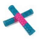 Грипсы Cult AK New, цвет: Розово-голубой, Длина : 160мм, Фланцы: 0